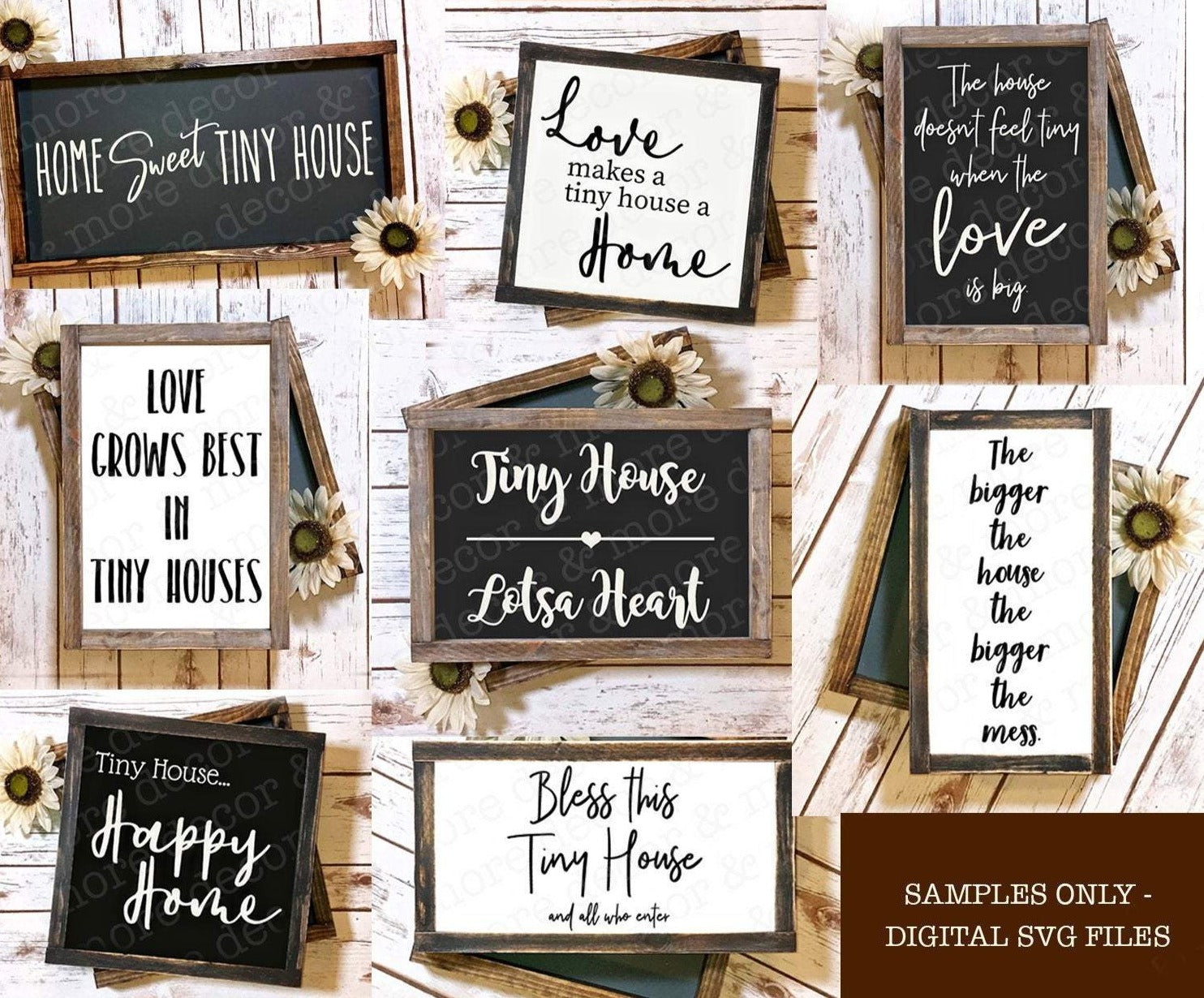 Tiny House Quote SVG Files, Tiny House SVG File Bundle, Housewarming Gifts for Tiny Houses, Tiny House Wood Sign SVG Files for Cricut