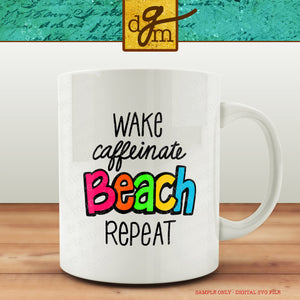 Bright Funny Beach SVG File, Funny Beach Shirt Saying SVG, Vinyl Sayings and Quotes Beach, Funny Coffee Cup SVG File, Beach Svg Files Cricut