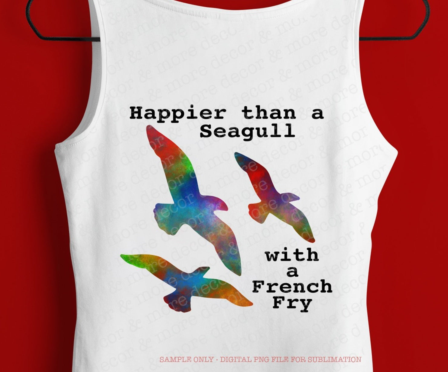 Beach Sublimation Design, Seagull With a French Fry, DIGITAL SUBLIMATION DOWNLOAD, Sublimation File for Beach Trip Shirt, Vacation Shirt png Sublimation, Summer png