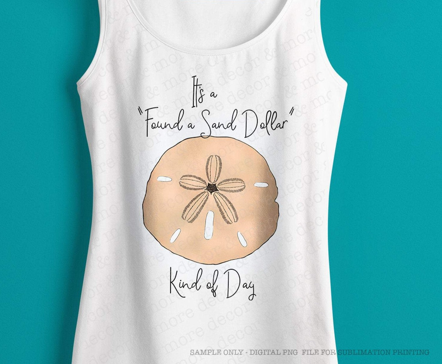 Beach Sublimation Design, Sand Dollar Digital Sublimation Download, Sublimation File for Beach Trip Shirt, Vacation Shirt png for DTG Printing, Summer png