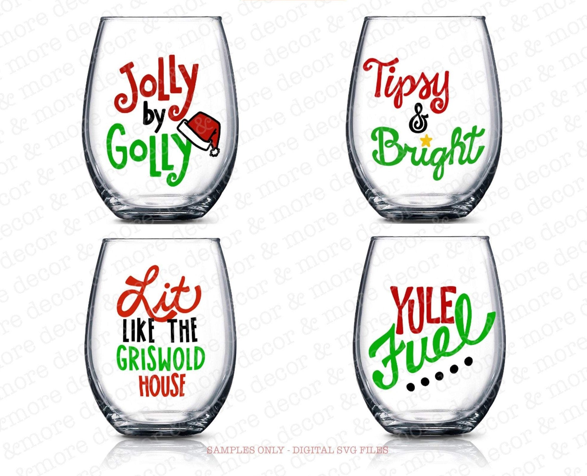 Christmas WINE GLASS SVG File Bundle, Funny Christmas Saying Wine Glass Svg Files, Christmas Wine Glass Label Svg, Cricut Christmas Svg