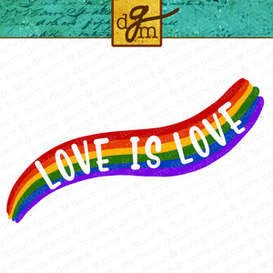 Love is Love Rainbow SVG File, Rainbow Shirt SVG Files for Cricut, Pride Saying SVG Cut File, Commercial Use Rainbow Sticker Svg
