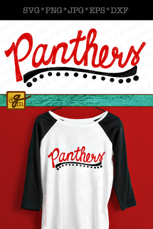 Script Panthers SVG File, Panthers Team Shirt SVG File, Panther Mom Shirt SVG, Panthers Svg Files for Cricut, Team Shirt Svg Panthers