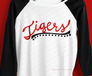 Script Tigers SVG File, Tigers Shirt SVG File, Tigers Mom Shirt SVG, Tigers Svg Files for Cricut, Commercial Use Tigers svg, Tigers Svg File