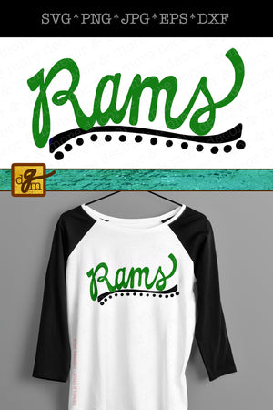 Rams Shirt SVG File, Script Rams SVG File, Rams Mom SVG, Ram Mascot Svg File, Vinyl Sayings Rams, Sports Team Svg Files for Cricut, Rams Svg