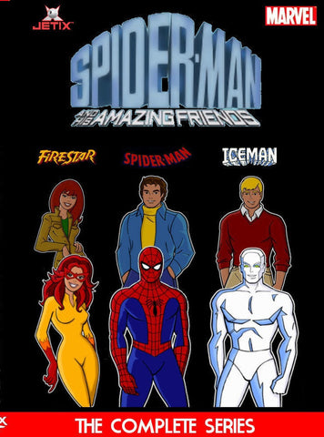 SPIDERMAN AND HIS AMAZING FRIENDS CARTOONS 5 DVD +BONUS 1981