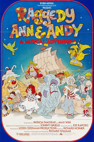 TV Raggedy Ann and Andy: A Musical Adventure 1977 DVD Very Rare Movie