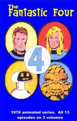 FANTASTIC FOUR 1978-79 CARTOONS 2 DVD set COMPLETE