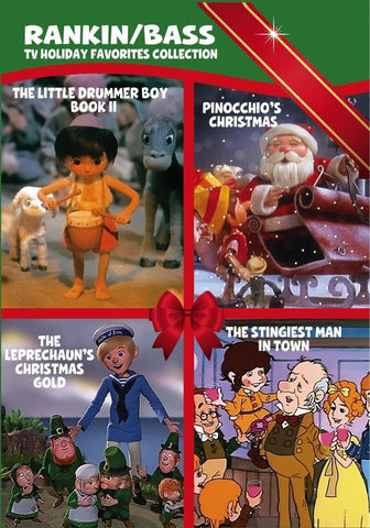 XMAS RANKIN BASS 4 CHRISTMAS FAVORITES DRUMMER BOY & MORE XMAS DVD SET 60's