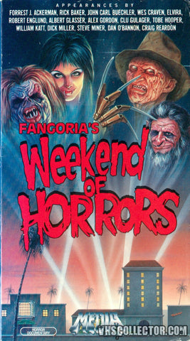 TV FANGORIA WEEKEND OF HORRORS DVD VERY RARE 1986