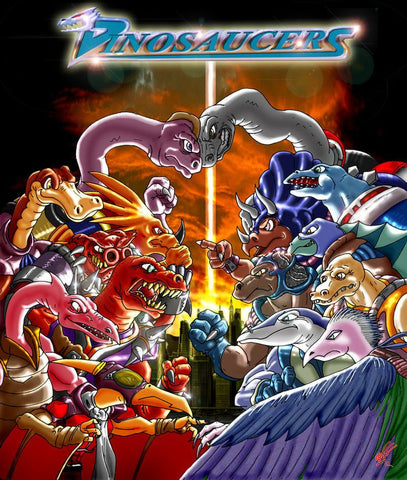 DINOSAUCERS CARTOON 4 DVD set COMPLETE ALL 65 episodes SERIES 1987