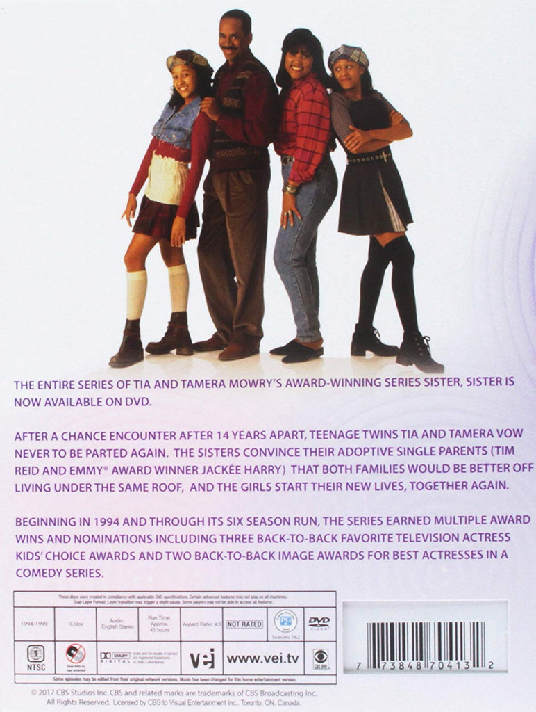 TV SISTER SISTER COMPLETE 12 DVD SET 1994-1999 EXTREMELY RARE SHOW