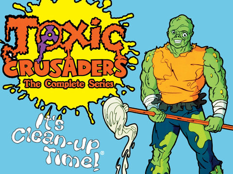 TOXIC CRUSADERS COMPLETE DVD SET + MOVIE VERY RARE CARTOON 1991