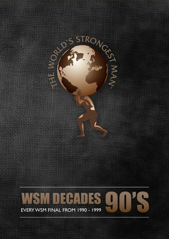 WORLDS STRONGEST MAN 2 90'S DECADE 1991-99 WSM DVD SET RARE