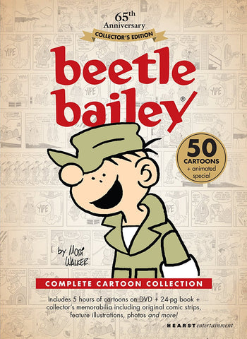 BEETLE BAILEY COMPLETE 50 EPISODES 2 DVD SET KIDS VERY RARE CARTOON 1963-64