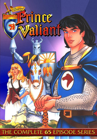 THE LEGEND OF PRINCE VALIANT COMPLETE 65 EPISODES DVD CARTOON VERY RARE 1991-93