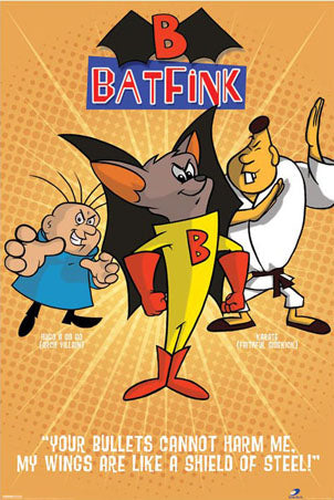 BATFINK COMPLETE 100 EPISODES CARTOON 4 DVD SET VERY RARE 1966-67