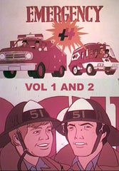 EMERGENCY +4 CARTOON 10 EPISODES VERY RARE 2 DVD SET 1973