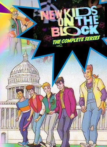 NEW KIDS ON THE BLOCK 2 DVD set COMPLETE 15 CARTOON + XMAS SPECIAL DVD set Very Rare!! NKOTB 1990