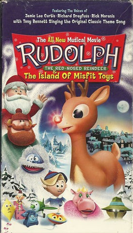 RUDOLPH THE RED NOSE REINDEER 2 - THE ISLAND OF THE MISFIT TOYS VERY RARE 2001 RANKIN BASS XMAS CARTOON