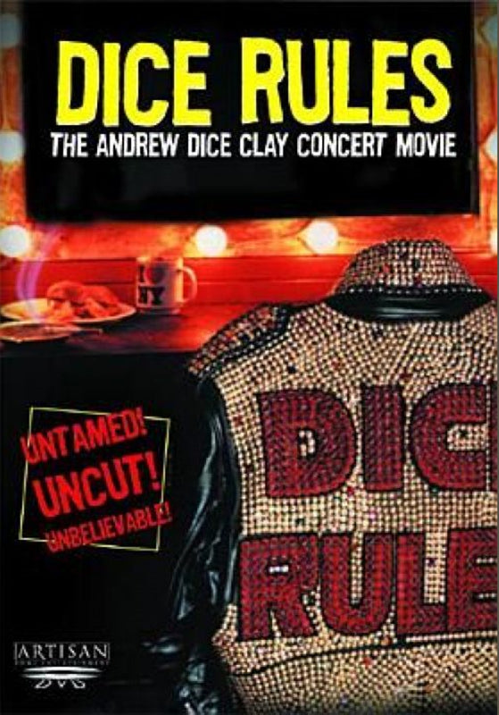 TV ANDREW DICE CLAY DICE RULES STAND UP COMEDY DVD 1991 VERY RARE