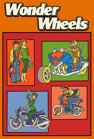 KIDS WONDER WHEELS COMPLETE DVD SET VERY RARE CARTOON 1977
