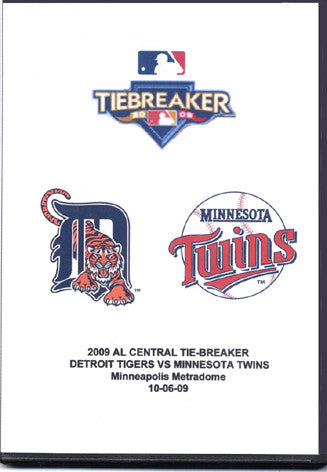 TV GAME 163 TWINS VS TIGERS OCTOBER 6 2009 4 DVD SET TIEBREAKER MLB