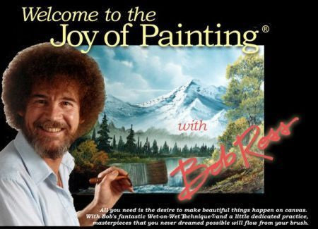 TV The Joy of Painting with Bob Ross 7 Seasons 90+ Episodes 16 DVD Set