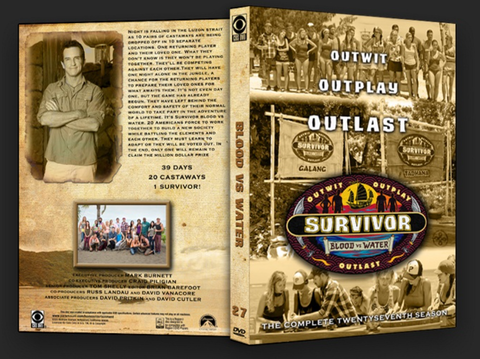 TV SURVIVOR SEASON 27 BLOOD VS WATER 6 DVD SET