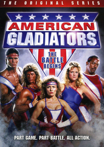 TV AMERICAN GLADIATORS ORIGINAL SERIES 1989 3 DVD SET 680 MINS