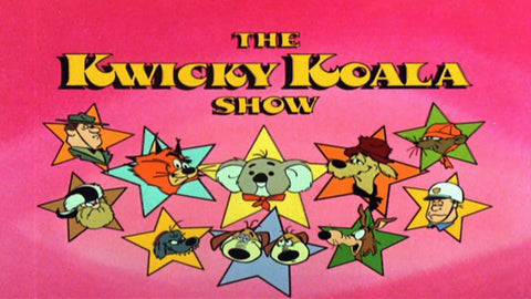 THE KWICKY KOALA SHOW COMPLETE 16 EPISODES 2 DVD SET VERY RARE CARTOON 1981