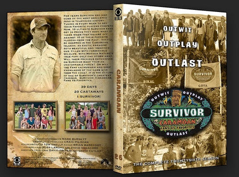 TV SURVIVOR SEASON 26 CARAMOAN 6 DVD SET