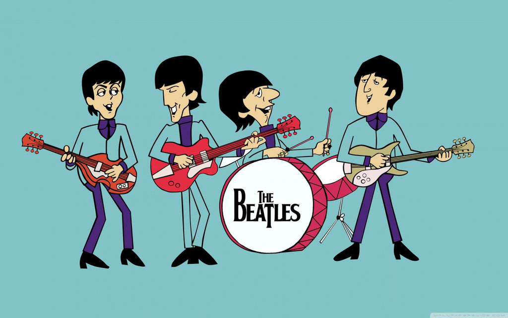 Image result for the beatles cartoon