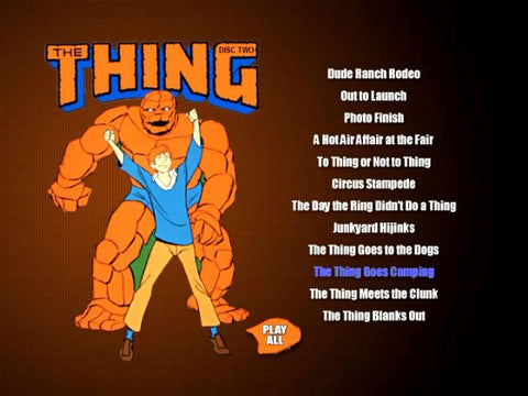 The THING CARTOONS 2 DVD ALL 26 episodes (1979)