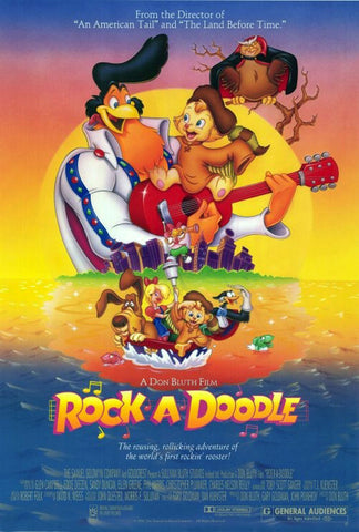 Rock-A-Doodle DVD Glen Campbell 1991 VERY RARE CARTOON Movie