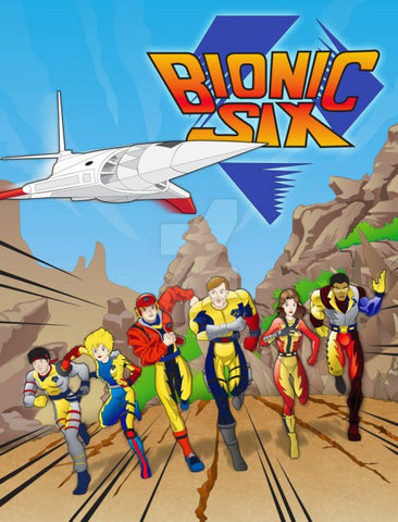 BIONIC SIX COMPLETE SERIES 10 DVD 65 CARTOONS 1987 VERY RARE SHOW 80'S