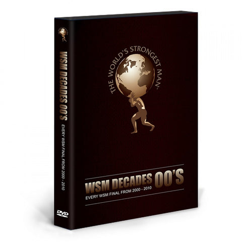 WORLDS STRONGEST MAN 3 2000 00'S DECADE 6 DISC DVD Includes all WSM Finals from 2000-2014