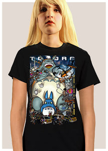 Attack on Totoro - Black - T-shirt