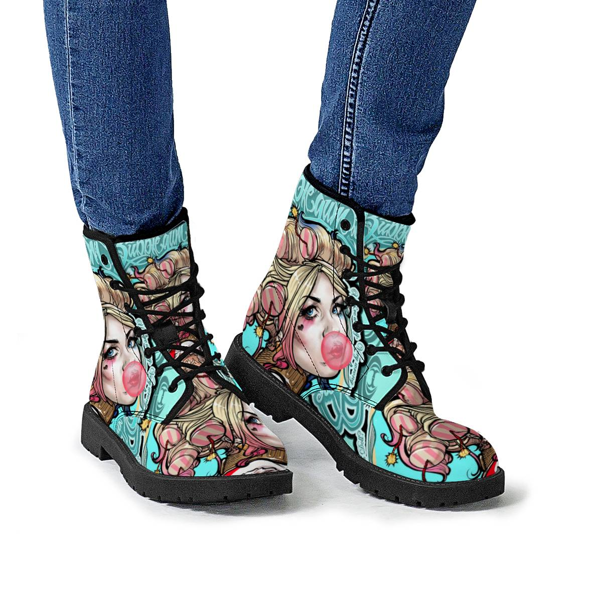 Harley Bubblegum -- Leather Boot --