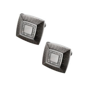 Steel & CZ Square Cufflinks