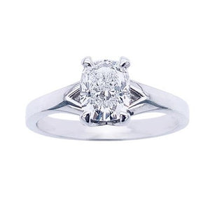 Platinum XISS Cushion-cut Diamond Ring