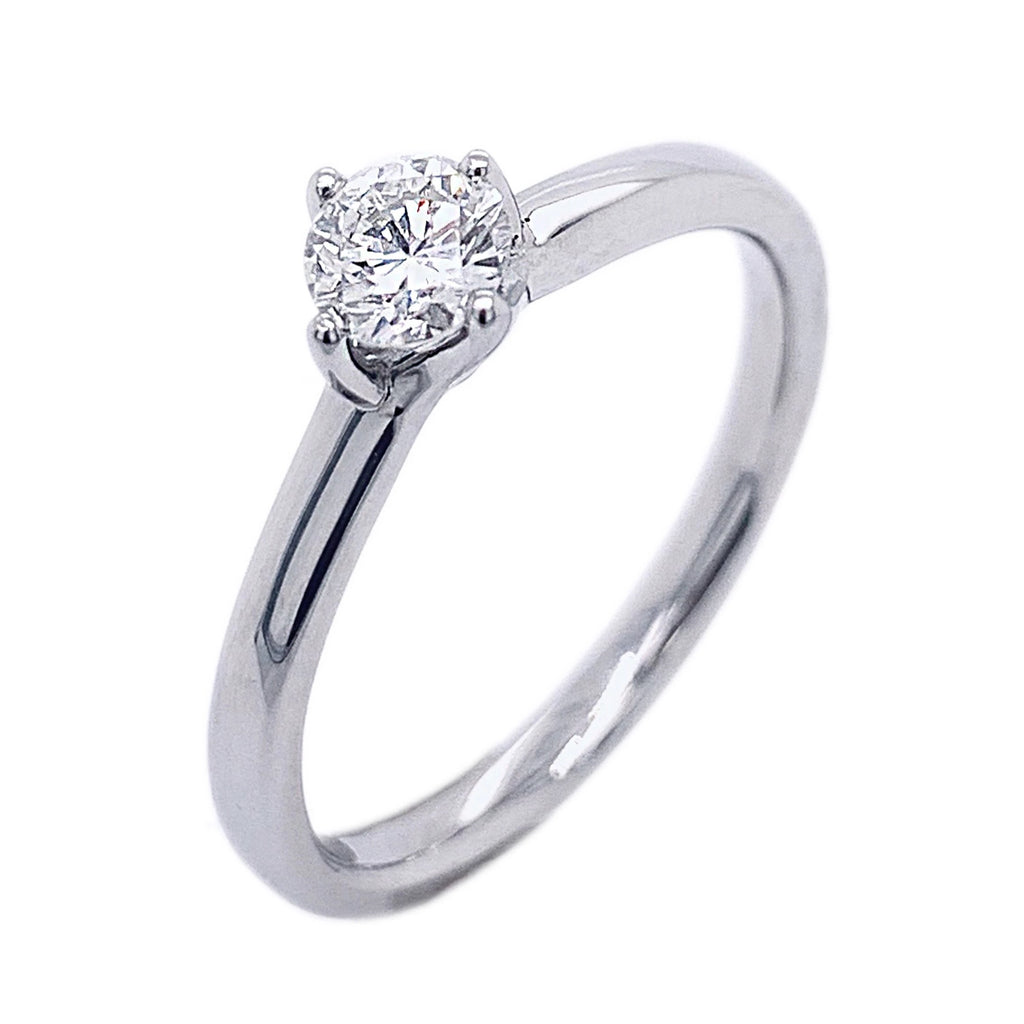 Platinum 4 x Claw Diamond Ring - Andrew Scott