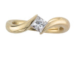 18ct Yellow Gold Princess-cut Diamond Sweep Ring - Andrew Scott
