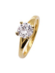 18ct Yellow Gold Round Brilliant XISS Ring