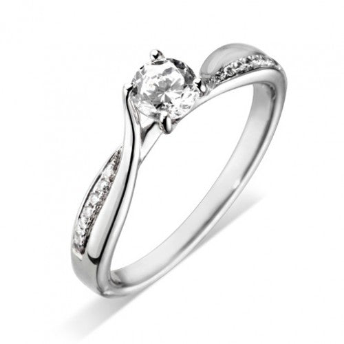 Platinum Twist Diamond Ring - Andrew Scott