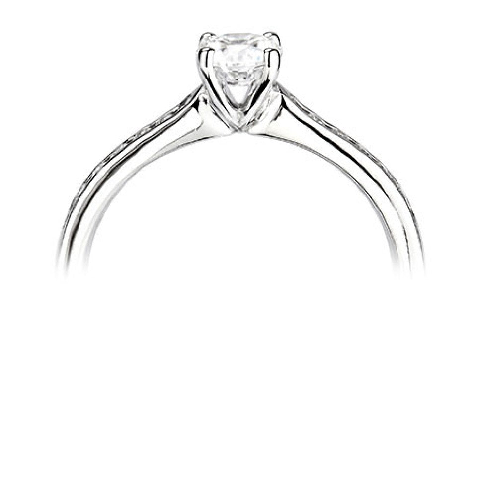 Platinum 4 Claw Diamond with Channel Detail Ring - Andrew Scott
