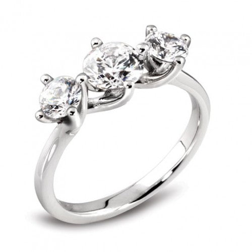 Platinum Twist Diamond Trilogy Ring - Andrew Scott