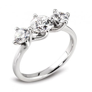 Platinum Twist Diamond Trilogy Ring
