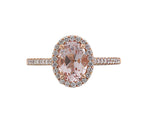18ct Rose Gold Morganite & Diamond Ring - Andrew Scott