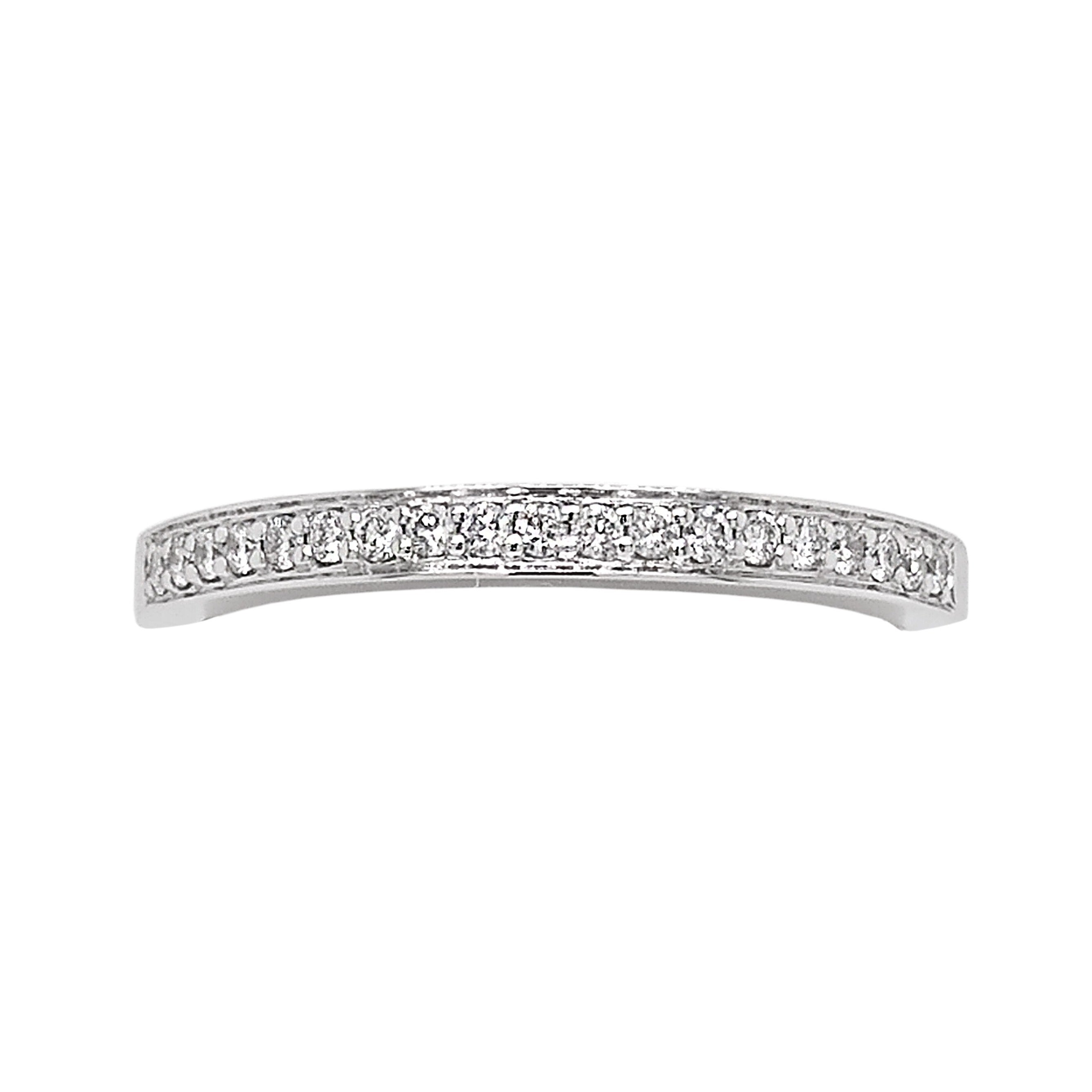 Platinum Pave Set Diamond Half Eternity Ring